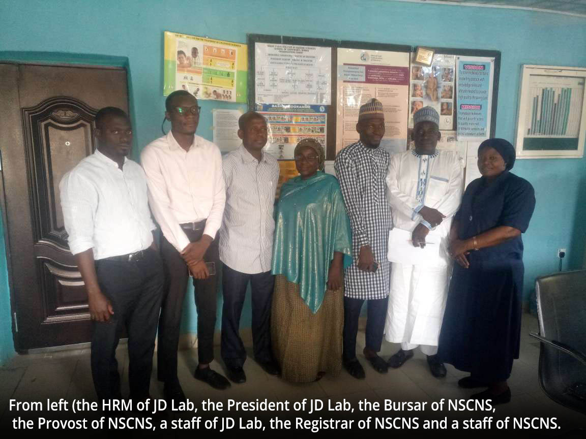 Niger State College of Nursing Sciences signs MOU with JD Lab