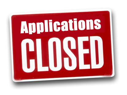 Application is closed…
